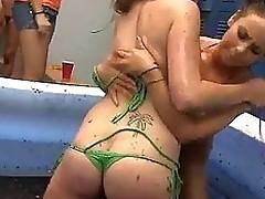Line up lesbian sex posture