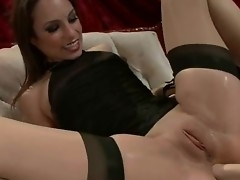 Gung-ho Amber Rayne has her pain in the neck left-wing fucked hard