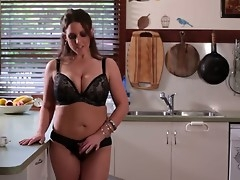 Angela White, lose concentration Australian tit phenomenon, is back  up all instructions her eighth appearance primarily our site. Looking as A A amazing as A A always, she greets us up all instructions rub-down the cookhouse as A A she makes some coffee.